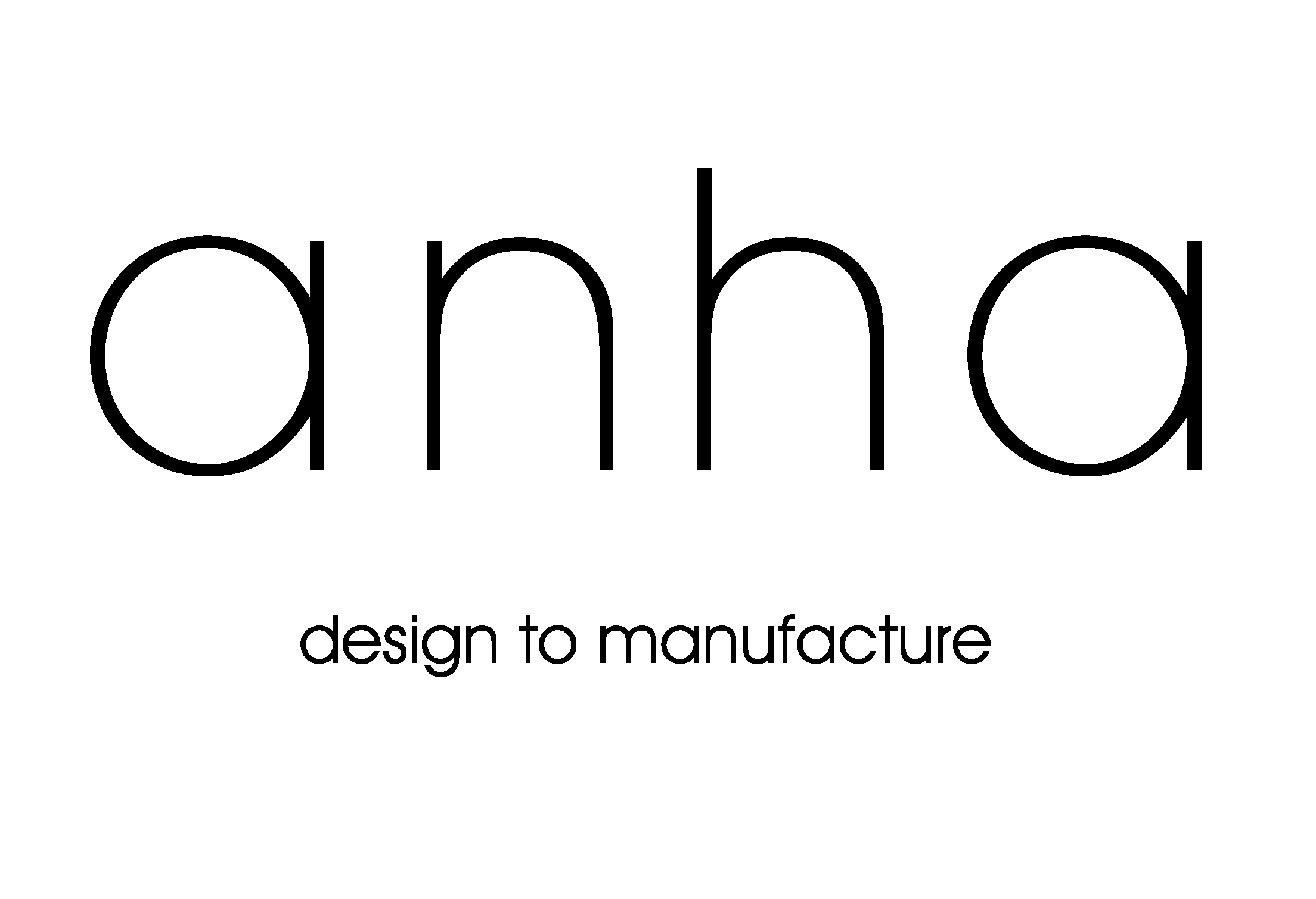 Logo ANHA, DESIGN TO MANUFACTURE